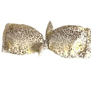 Victoria's Secret Gold Animal Print Bikini Top XS